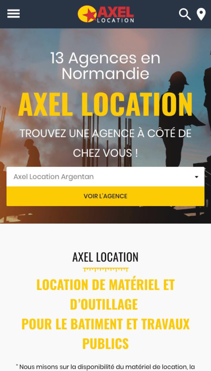 Création site internet - Axel Location