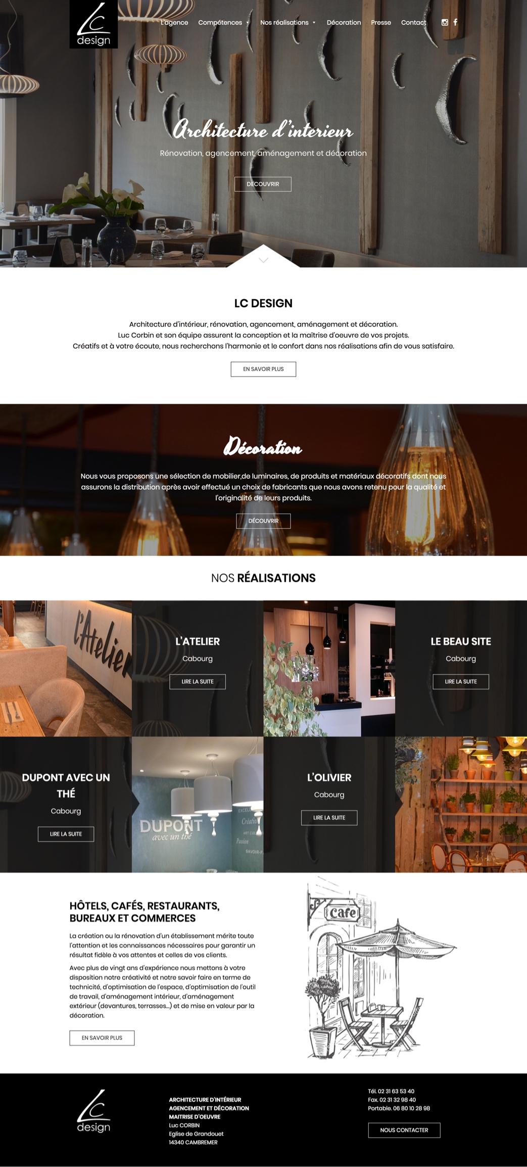 Création site internet - LC Design