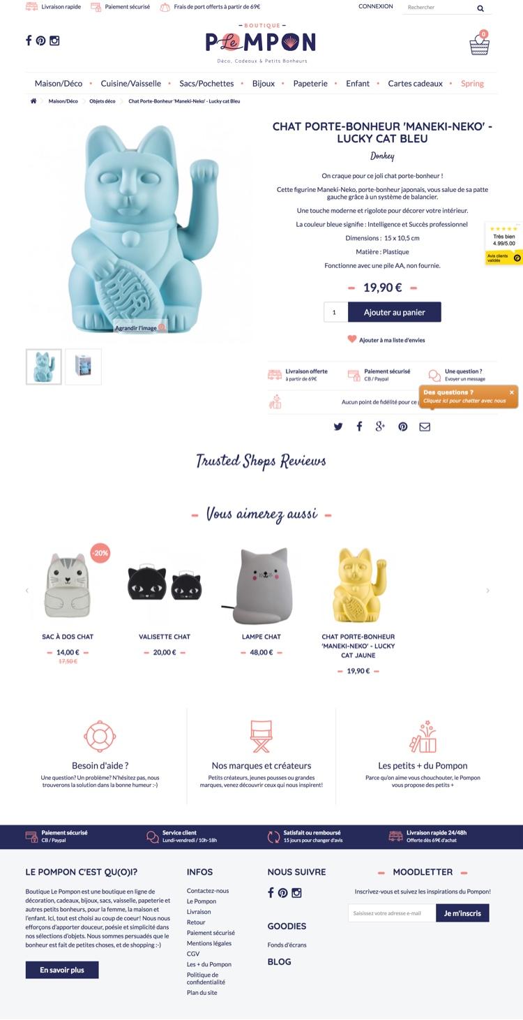 Création site internet - Boutique Le Pompon