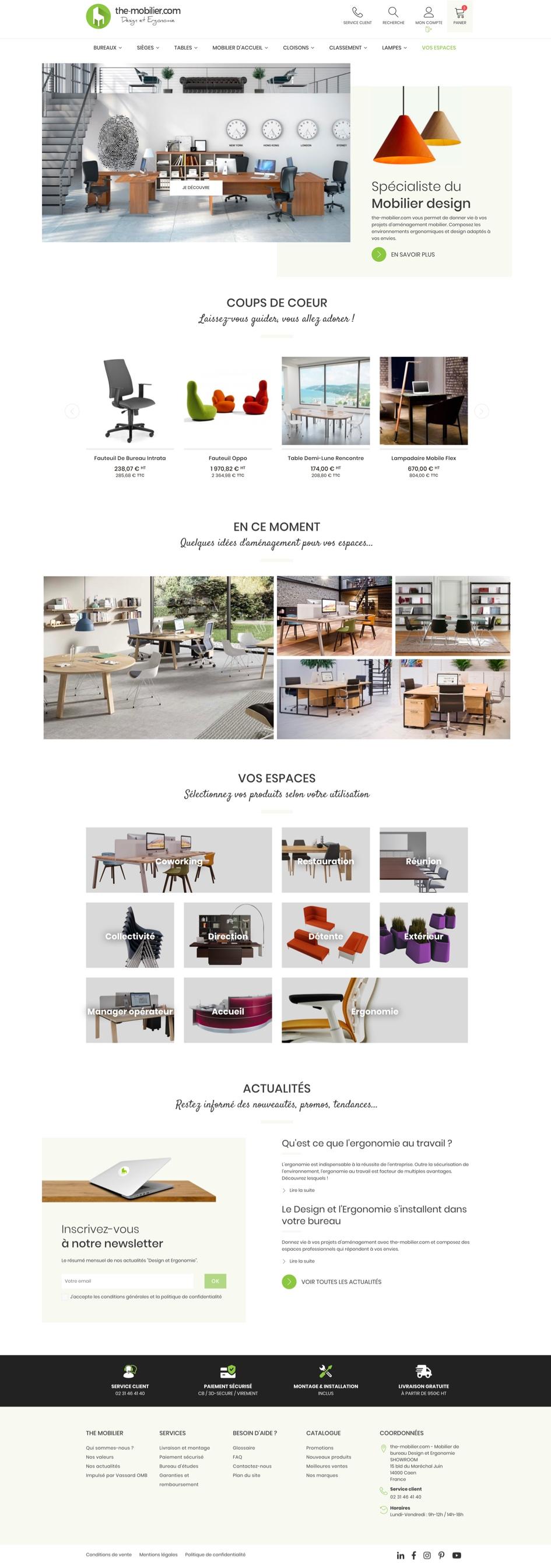 Création site internet - The Mobilier