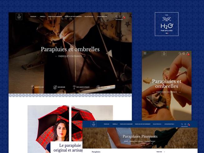 Création site internet - H2O Parapluies
