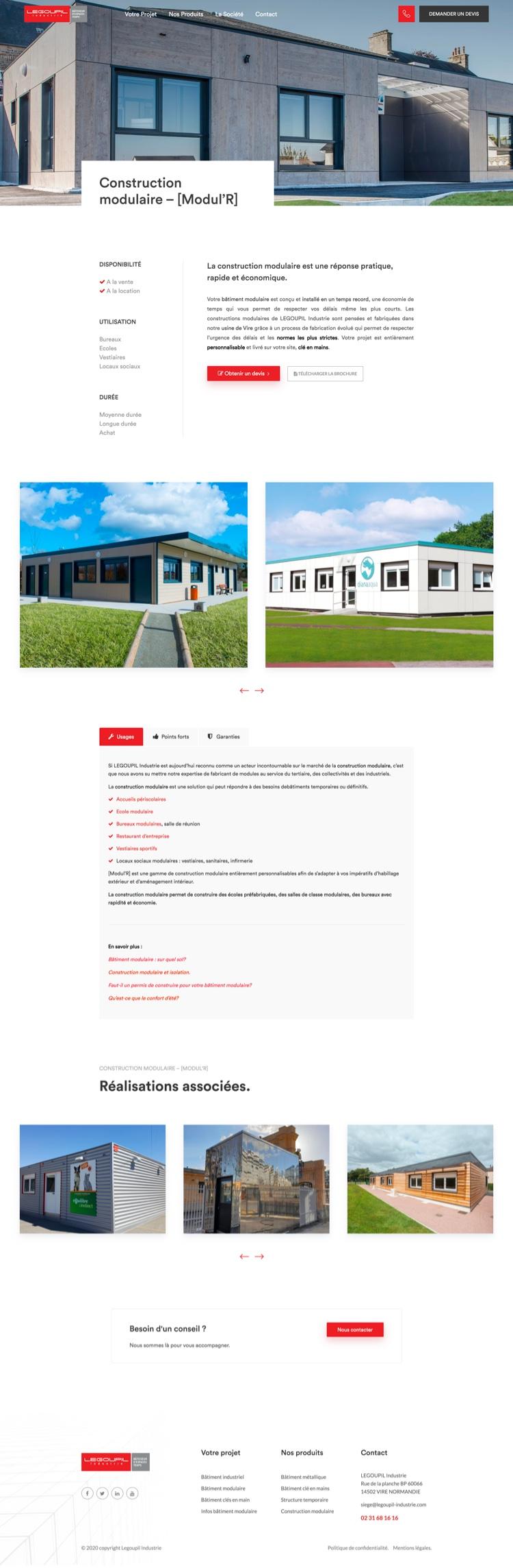 Création site internet - Legoupil industrie
