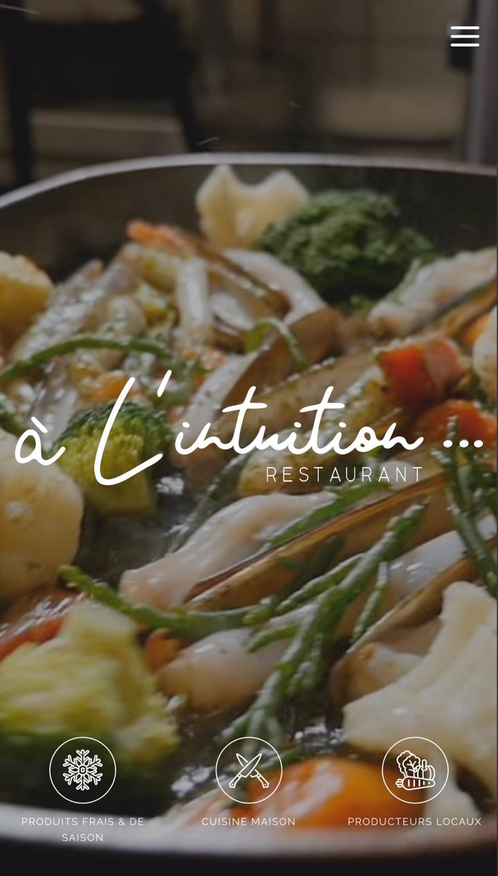 Création site internet - Restaurant «A l'intuition»